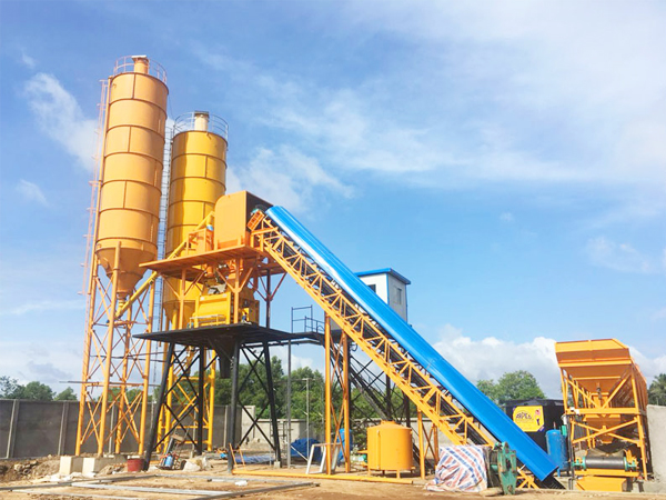 HZS90 ready mix concrete plant